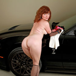 Mustang Love - Big Tits, Redhead, Shaved