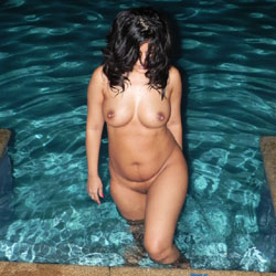 Standing Naked In The Pool - Big Tits, Brunette Hair, Firm Tits, Full Nude, Huge Tits, Large Breasts, Perfect Tits, Shaved Pussy, Water, Wet, Hairless Pussy, Naked Girl, Sexy Body, Sexy Boobs, Sexy Figure, Sexy Girl, Sexy Legs