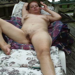 Nude Sunbathing - Masturbation, Outdoors, Bush Or Hairy