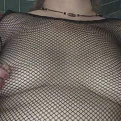 Tits, Fishnet and Cum - Big Tits