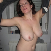 Very large tits of my wife - Andrea
