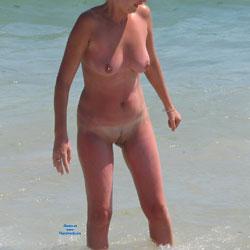 Shaved - Beach, Big Tits