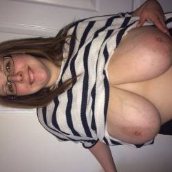 Extremely large tits of my wife - Meagan