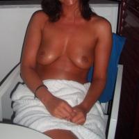 Medium tits of my wife - shy