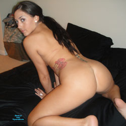 Young Hairy Soldier - Brunette, Tattoos