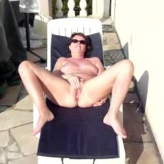 At Home - Big Tits, Brunette, Masturbation, Outdoors