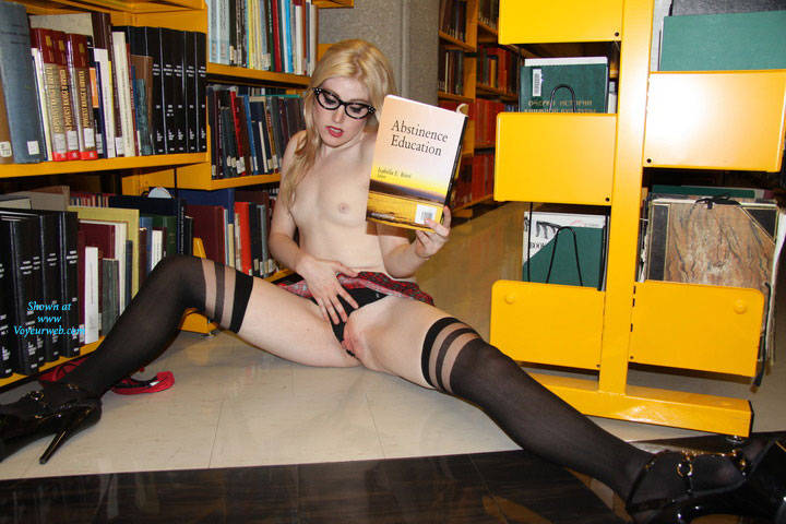Naughty College School Girl - Exposed In Public, Heels, Nude In Public, Sexy Lingerie , My Friend Daisy Was Feeling Naughty One Night So We Decided To Do A Shoot In The Public Library. We Almost Got Caught Several Times But It Was Worth It! Vote For Me And I'll Post More!