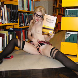 Naughty College School Girl - High Heels Amateurs, Lingerie, Public Exhibitionist, Public Place