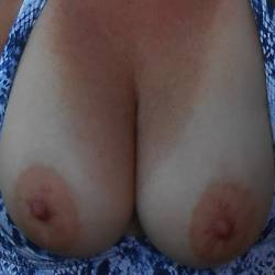 Large tits of a neighbor - friend