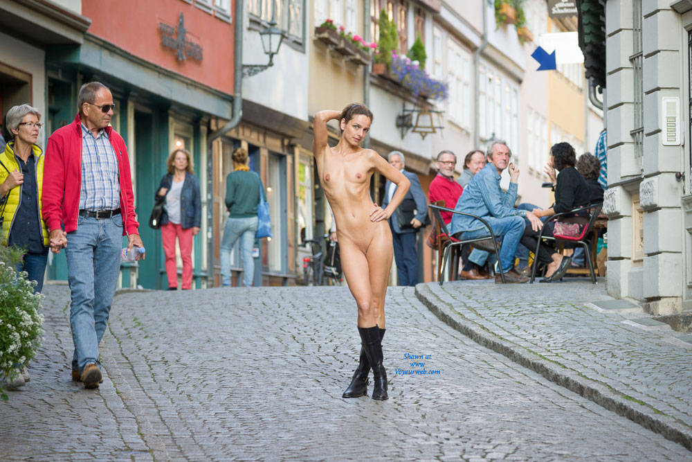 Naked Stroll - Exposed In Public, Nude In Public, Shaved , Rapunzel Is Going A Step Ahead, From Flashing To Nudity.
