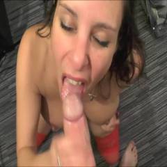 Sucking And Facial - Blowjob, Brunette, Cumshot, Facials