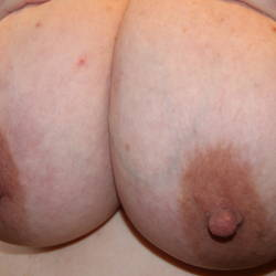 Very large tits of my wife - Misty