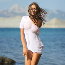 Wet T-Shirt - Shaved, Beach