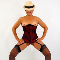 Mariska's Hat And Bare Boobies - High Heels Amateurs, Lingerie