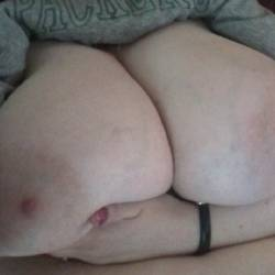 Very large tits of my girlfriend - Becky