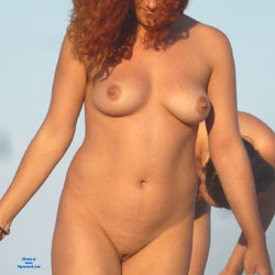Curly Redhead - Beach Voyeur , Several Days I Have Pleasure To Follow This Curvy Girl And Her Friends Feeling Free On Nude Beach And Full Enjoy The Nudist Lifestyle! Enjoy The Views!