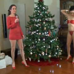 Santa Baby - Lingerie, High Heels Amateurs, Brunette, Big Tits