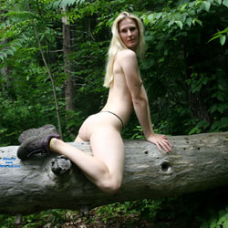 Naked Blonde Riding A Trunk - Blonde Hair, Exposed In Public, Firm Tits, Full Nude, Long Legs, Naked Outdoors, Natural Tits, Nipples, Nude In Nature, Nude In Public, Nude Outdoors, Showing Tits, Small Breasts, Small Tits, Sexy Ass, Sexy Body, Sexy Figure, Sexy Legs