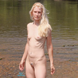 A Few From The River - Blonde Hair, Natural Tits, Nude In Public, Small Tits
