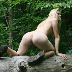 A Few From The Waterfall - Blonde Hair, Nude In Public