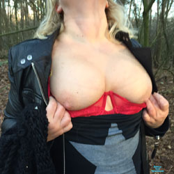 Out In The Woods - Big Tits, Nature