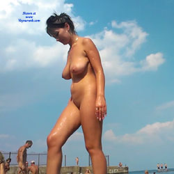 Milf Brunette 2 - Big Tits, Brunette Hair, Beach Voyeur , More Photo With Realy Female