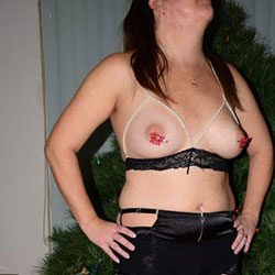 Mrs Cooling Christmas Outfit - Big Tits, Lingerie