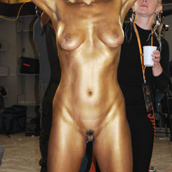 Naked Art Show - Artistic Nude, Big Tits, Erect Nipples, Exposed In Public, Full Nude, Nipples, Showing Tits, Trimmed Pussy, Sexy Body, Sexy Legs
