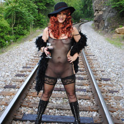Nude Redhead Having Fun At Railroad - Boots, Erect Nipples, Exposed In Public, Firm Tits, Flashing Tits, Flashing, Heels, Nipples, No Panties, Nude In Public, Nude Outdoors, Redhead, See Through, Shaved Pussy, Showing Tits, Hairless Pussy, Sexy Body, Sexy Boobs, Sexy Face, Sexy Figure, Sexy Girl, Sexy Legs, Sexy Lingerie, Dressed
