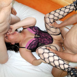 Miami MFM - Brunette, Group, Lingerie, Blowjob