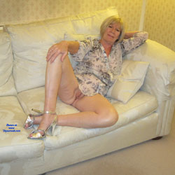 Relaxing At Home Some More - Blonde, High Heels Amateurs, Shaved, Wife/Wives