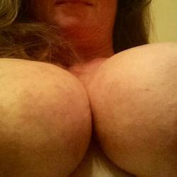 Extremely large tits of my wife - Marie