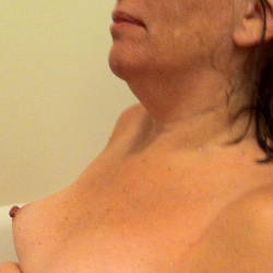Very small tits of my wife - Diane