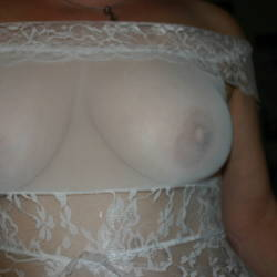 Large tits of my wife - stunning wife