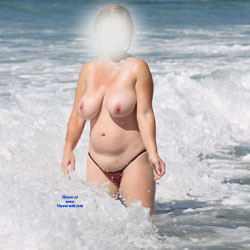 Showing Off At The Beach Part 1 - Beach, Big Tits, Wife/Wives