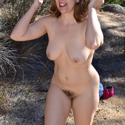 Outdoor Fun - Big Tits, Hairy Bush, Beach Voyeur
