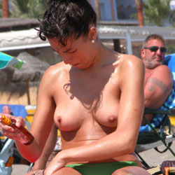 Topless Beach Vacation - Big Tits, Bikini, Brunette Hair, Exposed In Public, Firm Tits, Hard Nipple, Nude In Public, Perfect Tits, Showing Tits, Topless Beach, Topless Girl, Topless, Beach Tits, Beach Voyeur, Hot Girl, Sexy Body, Sexy Boobs, Sexy Figure, Sexy Girl, Sexy Legs