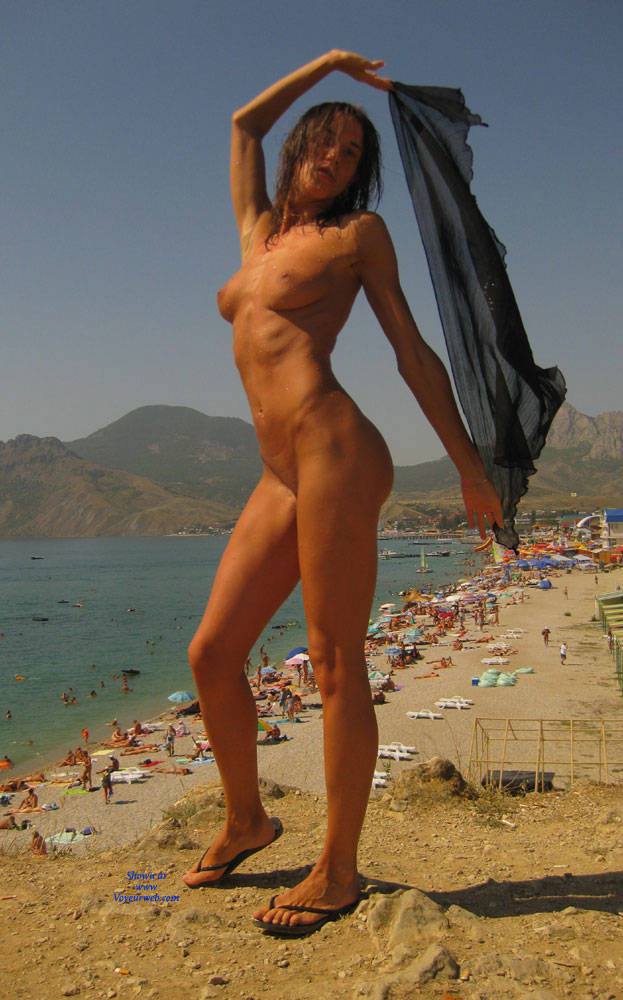 Pic #1 - Koktebel - Beach Voyeur , Model, Beach, Softcore, Nudity