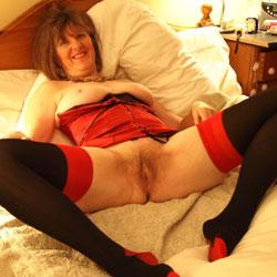 Christmas Bed Blowjob - Big Tits, Lingerie