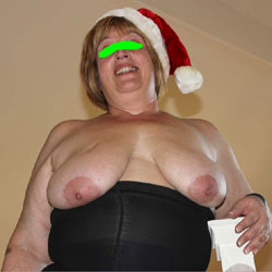 BBW Sandy's Christmas Sheer - Big Tits, Wife/Wives, BBW