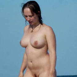 Natural Big Ones Blonde - Beach, Big Tits