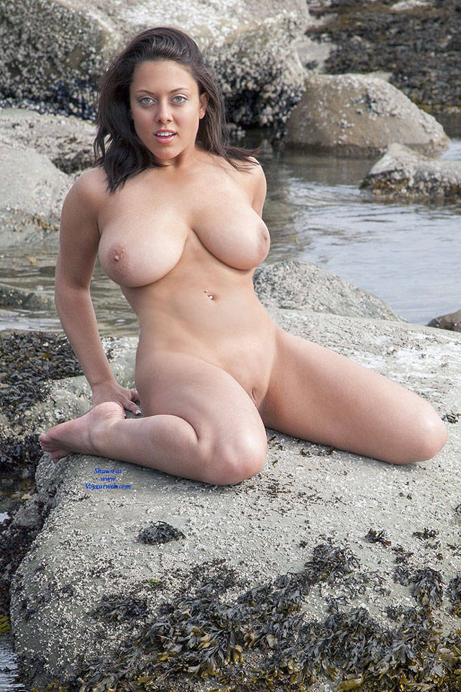 Pic #8 Freshman Sue's Happy New Years - Beach, Big Tits, Brunette, Shaved