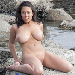 Freshman Sue's Happy New Years - Beach, Big Tits, Brunette, Shaved