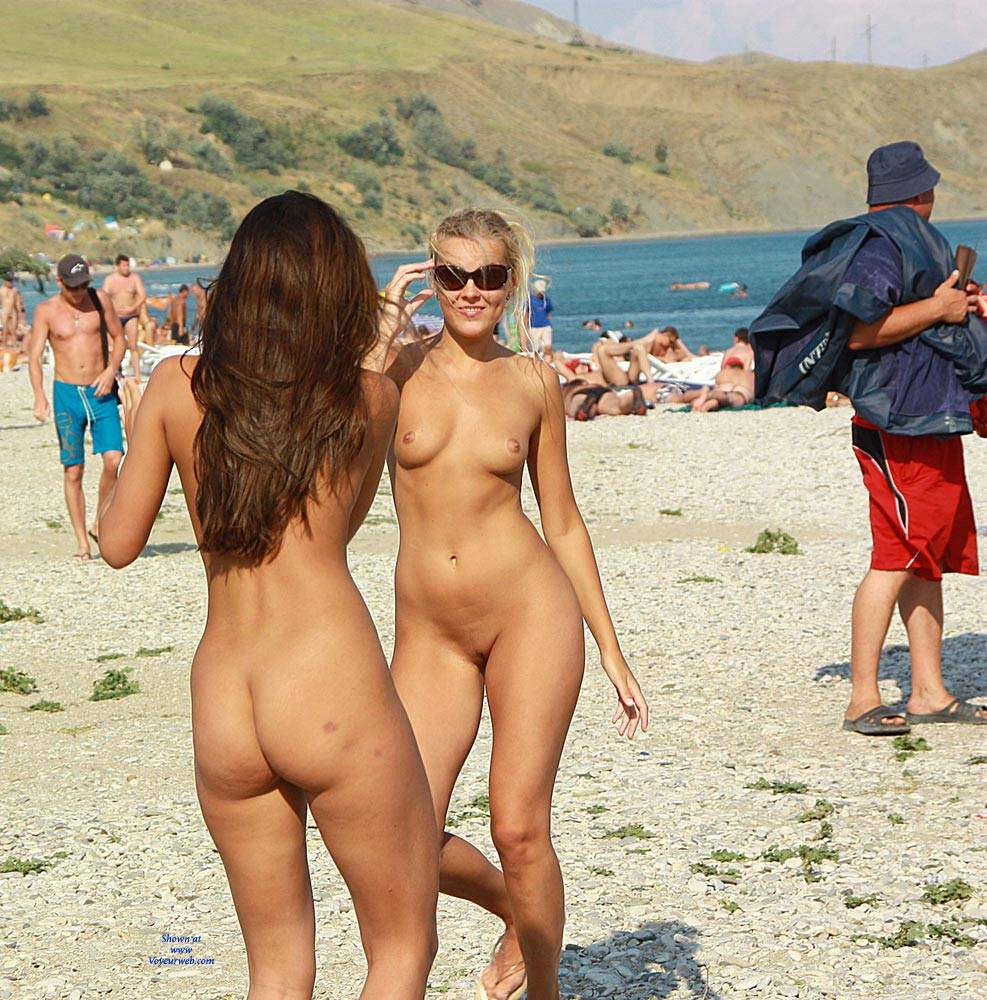 Nude dancing outdoors