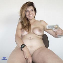 Pistol Packin Sara - Big Tits, Shaved