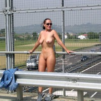 Nude Freeway Overpass - Nude In Public