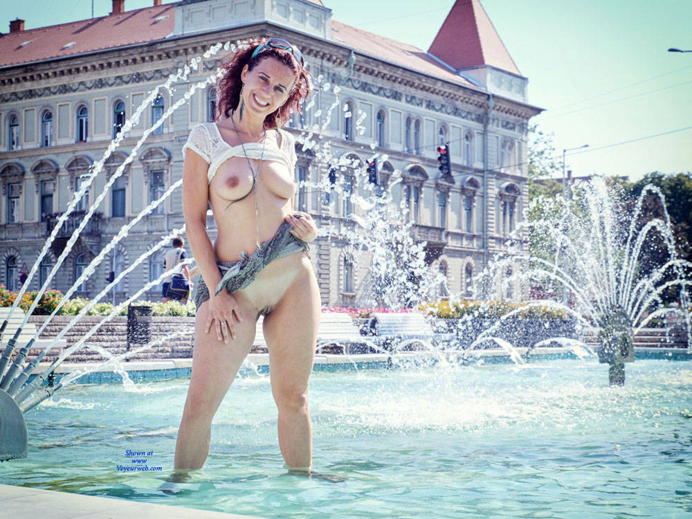 Pic #1 - Lena In Budapest - Big Tits, Exposed In Public, Flashing, Nude In Public, Shaved , Nude In Public, Nude, Sexy, Amateur Model