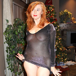 My See-Through New Year's Celebration - Big Tits, Redhead, See Through