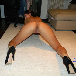 Sexy Wife On The Rug - Brunette, High Heels Amateurs, Wife/Wives