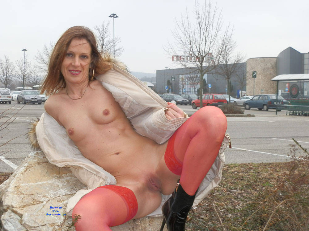 Pic #1 - Cold Sunday - Exposed In Public, Flashing, Nude In Public, Perfect Tits, Shaved, Sexy Lingerie, Wife/Wives , Slender, Skinny, Nude In Public, Lingerie